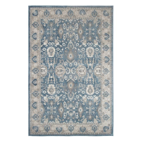 """Windsor Home Vintage Floral Rug - Blue - 5' x 7'7"""" - 5' x 7'7"""""""