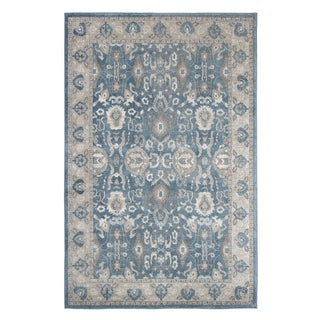"Windsor Home Vintage Floral Rug - Blue - 5' x 7'7"" - 5' x 7'7"""