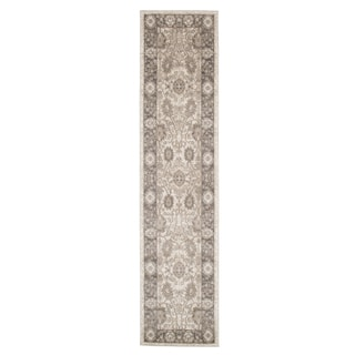 "Windsor Home Vintage Floral Rug - Ivory Dark Grey - 1'8"" x 7'"