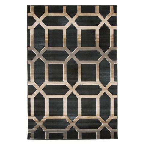 Windsor Home Opus Art Deco Area Rug - Dark Teal - 3'3 x 5'