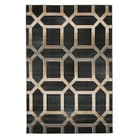 Windsor Home Opus Art Deco Area Rug - Dark Teal - 3'3 x 5'
