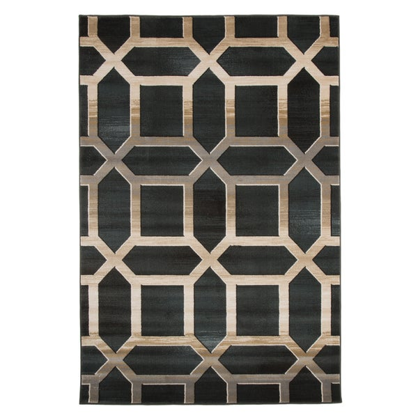 Windsor Home Opus Art Deco Area Rug - Dark Teal - 3'3x5' - 3'3 x 5'