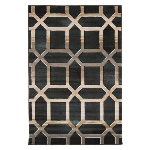 Shop Windsor Home Opus Art Deco Area Rug Dark Teal 3 3