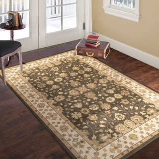 Windsor Home Vintage Mixed Floral - Brown Beige - 5' x 7'7""