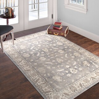 Windsor Home Vintage Mixed Floral - Grey Dark Grey - 5' x 7'7""