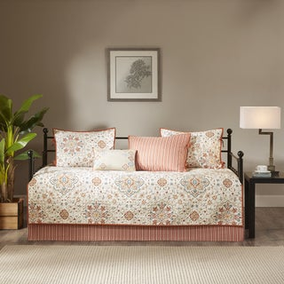 Link to Madison Park Maya Ivory Printed 6 Piece Day Bed Cover Set Similar Items in Daybed Covers & Sets