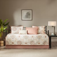 Madison Park Maya Ivory Printed 6 Piece Day Bed Cover Set