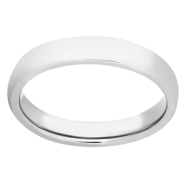 Men's 4mm Polished Titanium Band - Silver