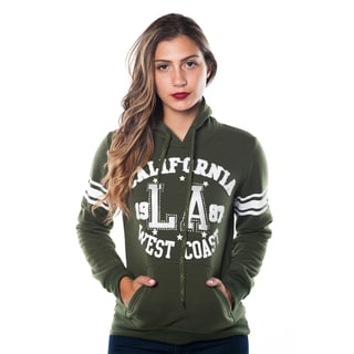 Special One Women's Fleece Double Hood Embellished Applique Sweatshirt