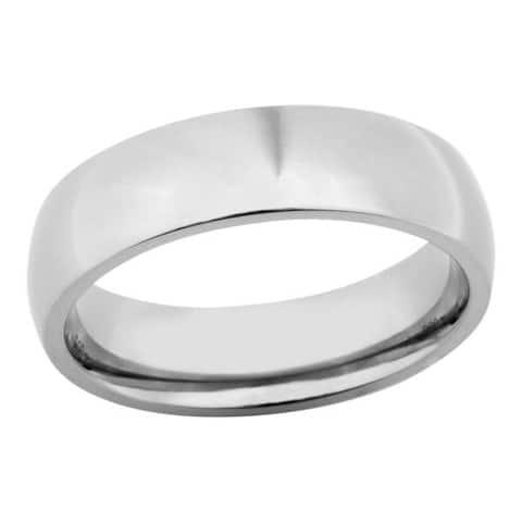 Men's 6mm Polished Titanium Band - Silver