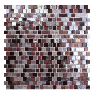 Opal Purple Glass Mosaic Tile (Pack of 10)