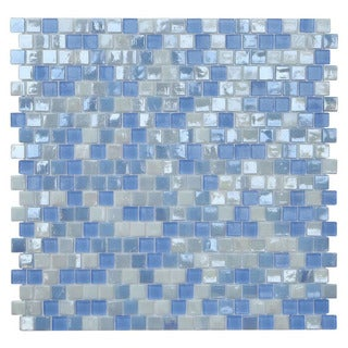 Opal Blue Mosaic Wall Tile (Pack of 10)