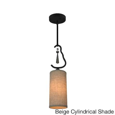 Woodbridge Lighting 14223BLK Haley One-light Mini Pendant