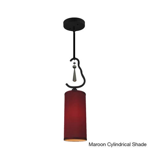 Woodbridge Lighting 14223BLK Haley One-light Mini Pendant
