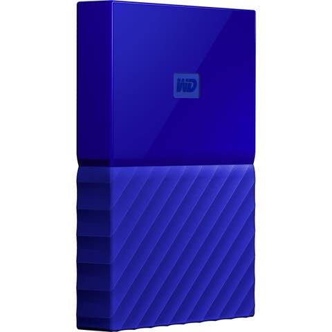 WD My Passport WDBYFT0040BBL-WESN 4 TB Portable Hard Drive - External - Blue