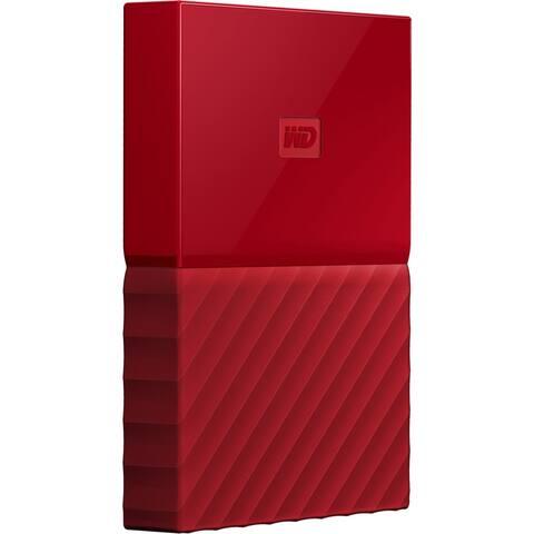 WD My Passport WDBYNN0010BRD-WESN 1 TB Portable Hard Drive - External - Red
