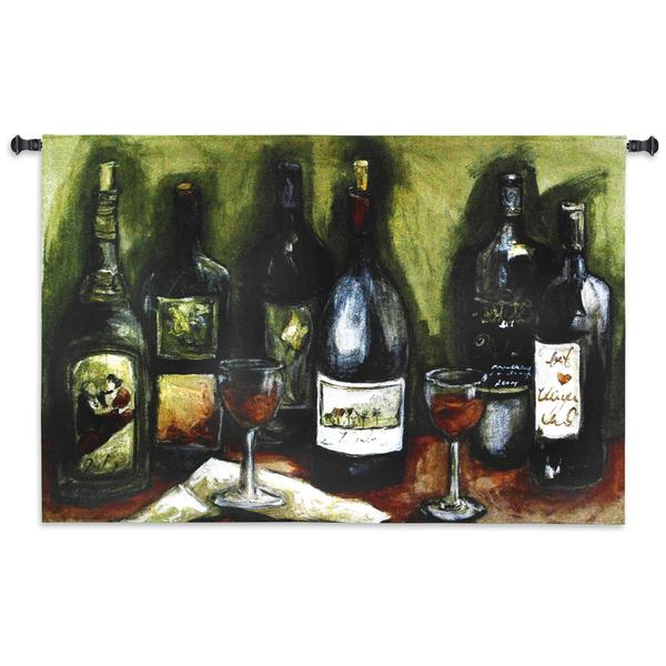 Fine Art Tapestries 'Wine Still Life' Cotton Wall Tapestry