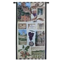 Fine Art Tapestries 'Wine Country II' Cotton Small Wall Tapestry