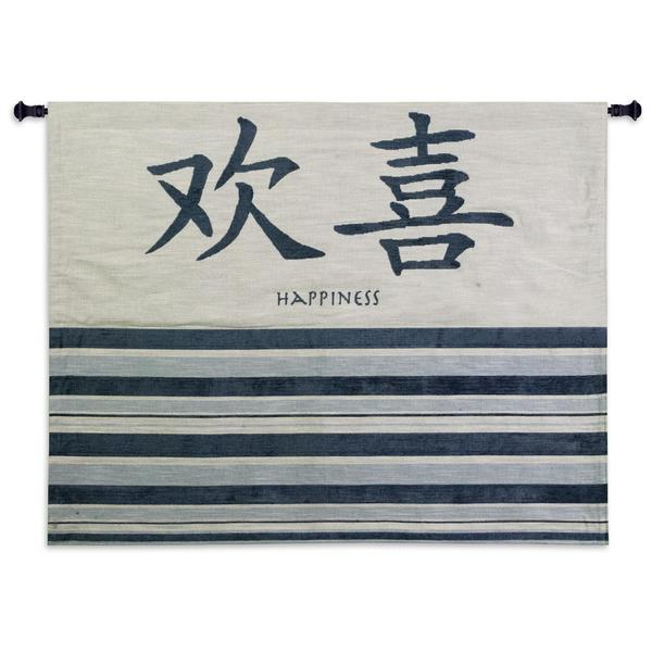 Windsong Blue Cotton Wall Tapestry