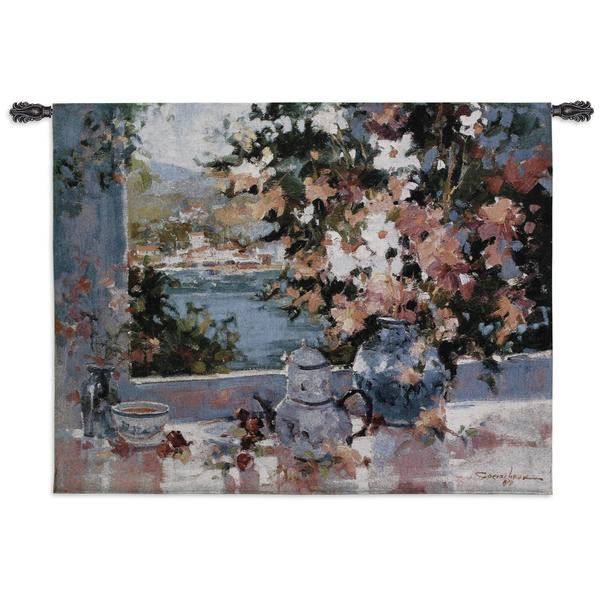 Fine Art Tapestries 'Window View' Multicolor Cotton Wall Tapestry