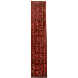 Herat Oriental Persian Hand-knotted Tribal Hamadan Wool Runner (2'9 x 16')