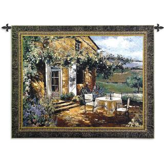 Fine Art Tapestries 'Vineyard Villa' Multicolored Cotton Large Wall Tapestry