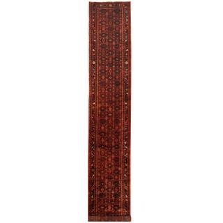 Herat Oriental Persian Hand-knotted Tribal Hamadan Wool Runner (2'8 x 16'3)