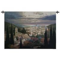 Village In The Sun Cotton Wall Tapestry