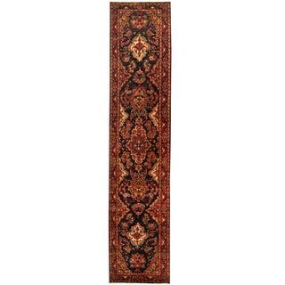 Herat Oriental Persian Hand-knotted Tribal Hamadan Wool Runner (3' x 14')