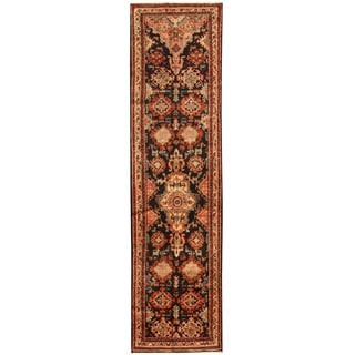 Herat Oriental Persian Hand-knotted Tribal Hamadan Wool Runner (3'2 x 12')