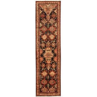 Herat Oriental Persian Hand-knotted Tribal Hamadan Wool Runner - 3'2 x 12'