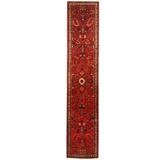 Herat Oriental Persian Hand-knotted Tribal Hamadan Wool Runner (2'9 x 14')