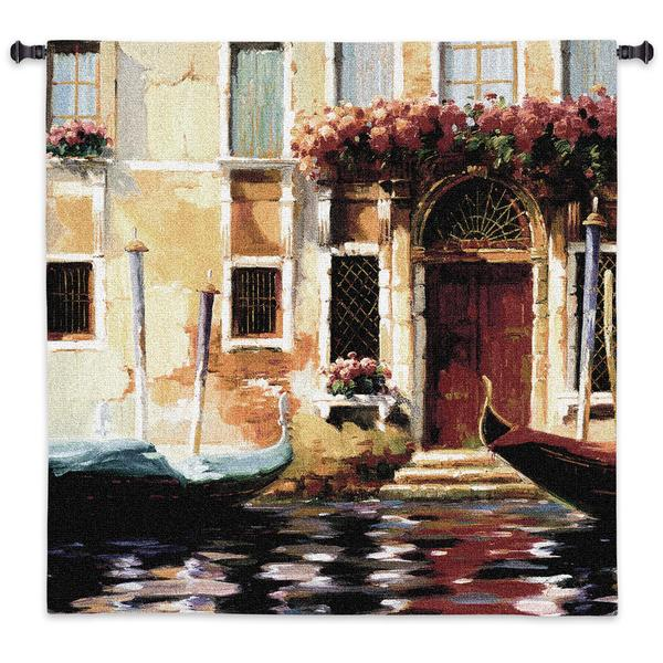 Fine Art Tapestries 'Venetian Gondolas II' Cotton Wall Tapestry