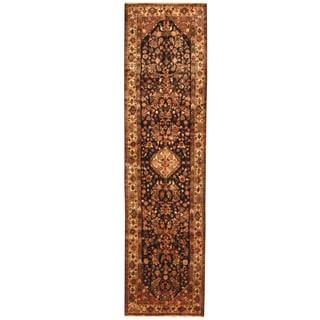 Herat Oriental Persian Hand-knotted Tribal Hamadan Wool Runner (3'6 x 13'1)