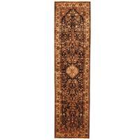Handmade Herat Oriental Persian Tribal Hamadan Wool Runner (Iran) - 3'6 x 13'1