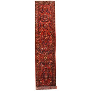 Herat Oriental Persian Hand-knotted Tribal Hamadan Wool Runner (3'1 x 16')
