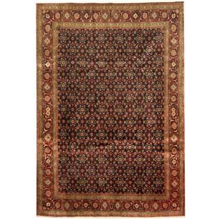 Herat Oriental Persian Hand-knotted Tribal Tabriz Wool Rug (6'6 x 9'4)