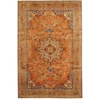 Herat Oriental Persian Hand-knotted Tribal Tabriz Wool Rug (6'7 x 9'9)