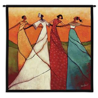 Fine Art Tapestries 'Unity' Multicolor Cotton Small Tapestry