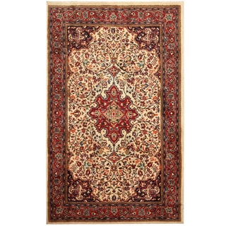 Herat Oriental Persian Hand-knotted Tribal Sarouk Wool Rug (4'5 x 7'1)