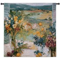 Fine Art Tapestries Multicolor Cotton Tuscany Floral Medium Wall Tapestry