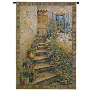 'Tuscan Villa II' Cotton Small Wall Tapestry