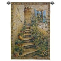 Fine Art Tapestries 'Tuscan Villa II Sienna' Multicolor Cotton Wall Tapestry