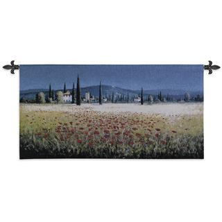 'Tuscan Pan Poppies' Wall Tapestry