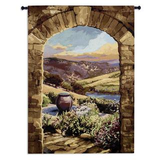 Fine Art Tapestries 'Tuscan Afternoon Medium' Cotton Wall Tapestry