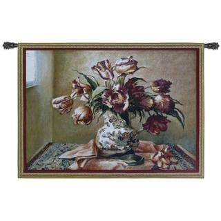 Fine Art Tapestries Tulips In Oriental Vase Wall Tapestry