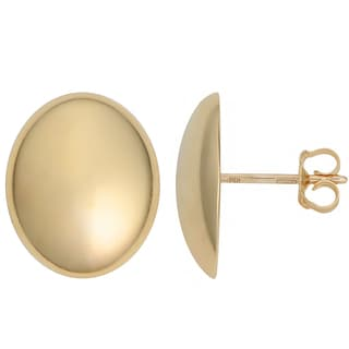 Fremada Italian 14k Yellow Gold High Polish Oval Earrings