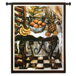 Fine Art Tapestries 'Tropical Table' Multicolor Cotton Wall Tapestry