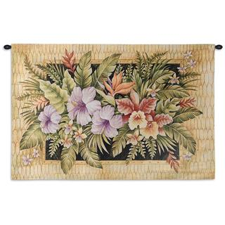 Fine Art Tapestries 'Tropical Flowers' Wall Tapestry