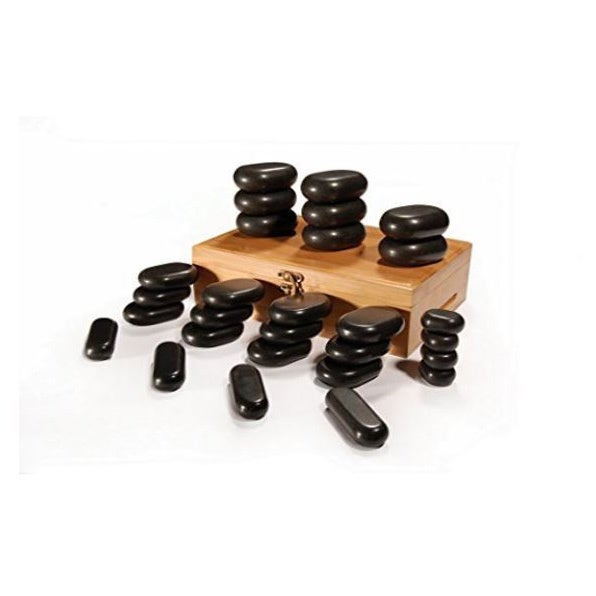 Master Massage 28-piece Hot Stone (Grey) Set 100% Basalt ...